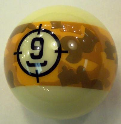 ARAMITH BELGIAN CAMOUFLAGE POOL BALLS COOL CAMO SET FREE US SHIPPING